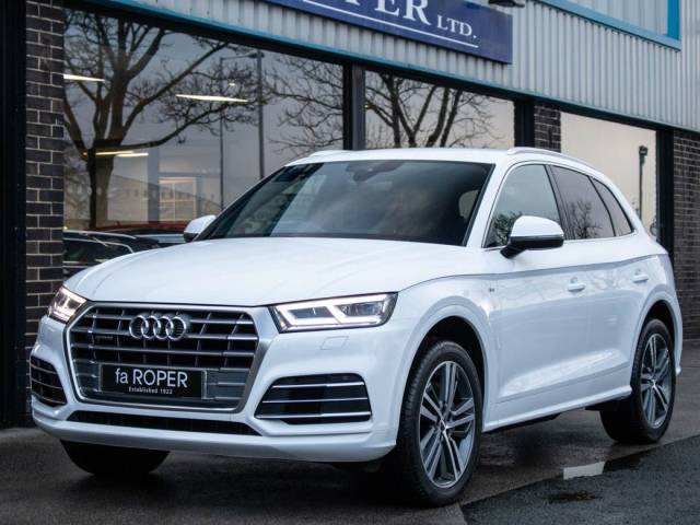 Audi Q5 2.0 TDI quattro S Line S tronic 190ps Estate Diesel Ibis White at fa Roper Ltd Bradford