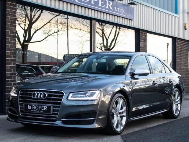 Audi A8 S8 4.0 TFSI quattro Auto 520ps Saloon Petrol Daytona Grey Metallic at fa Roper Ltd Bradford