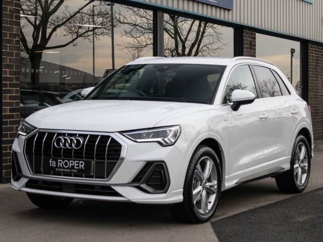 Audi Q3 1.5 35 TFSI S Line S Tronic 150ps Estate Petrol Ibis White at fa Roper Ltd Bradford