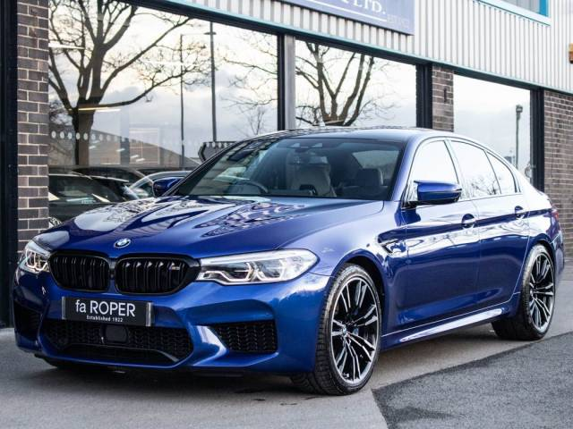 BMW M5 M5 4.4 V8 Auto 600ps Saloon Petrol Marina Bay Blue Metallic at fa Roper Ltd Bradford