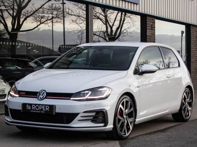 Volkswagen Golf 2.0 TSI GTI Performance 245ps 3 door DSG Hatchback Petrol Pure White at fa Roper Ltd Bradford