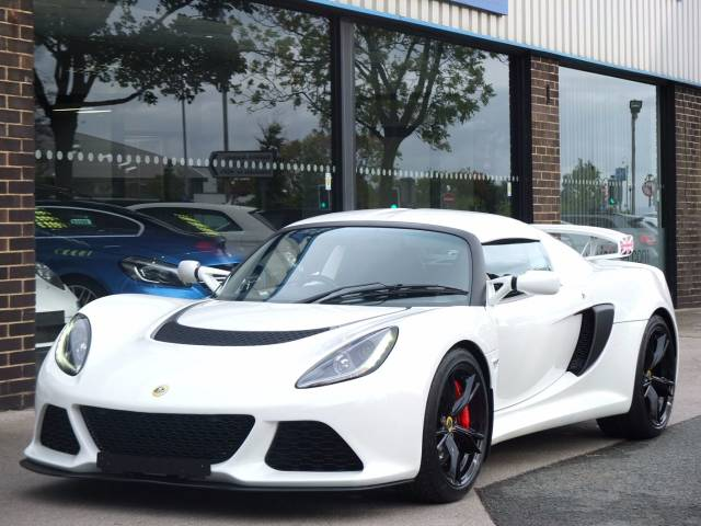 Lotus Exige 3.5 EXIGE S Premium Sport and Race Packs 350ps Coupe Petrol Aspen White at fa Roper Ltd Bradford