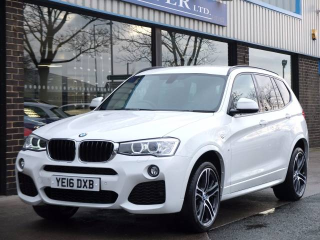 BMW X3 2.0 xDrive20d M Sport Plus Auto Estate Diesel Alpine White at fa Roper Ltd Bradford