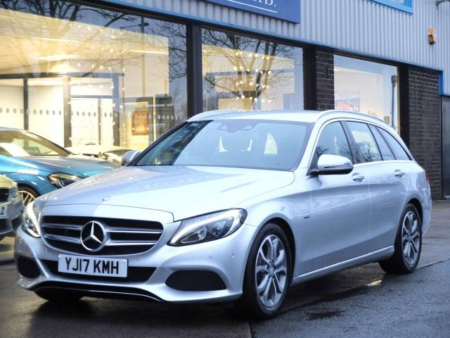 Mercedes-Benz C Class 2.0 C350e Sport PHEV (Electric Plug In Hybrid) Estate Auto Estate Hybrid Iridium Silver at fa Roper Ltd Bradford