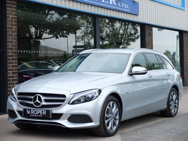 Mercedes-Benz C Class 2.0 C350e Sport Estate PHEV Auto Estate Petrol / Electric Hybrid Iridium Silver Metallic at fa Roper Ltd Bradford