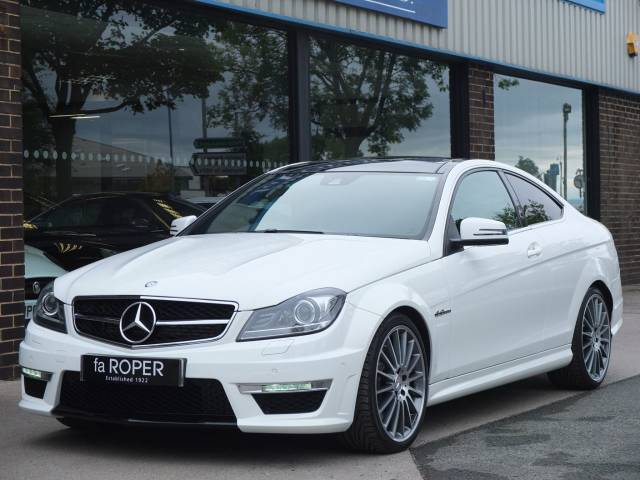Mercedes-Benz C Class 6.2 C63 AMG Coupe MCT Coupe Petrol Polar White at fa Roper Ltd Bradford