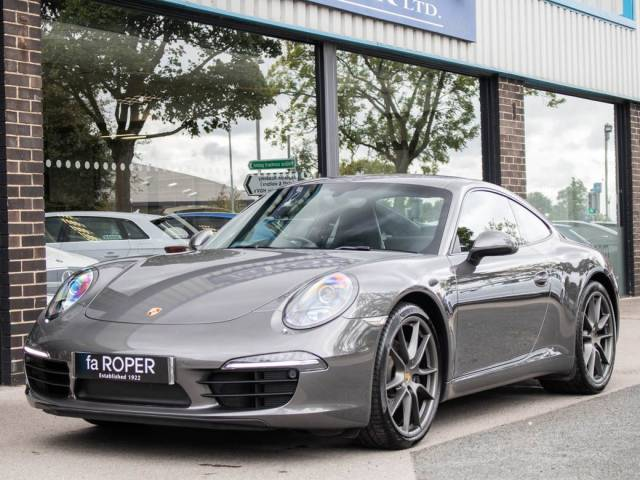 Porsche 911 3.4 991 Carrera Coupe PDK Coupe Petrol Agate Grey Metallic at fa Roper Ltd Bradford