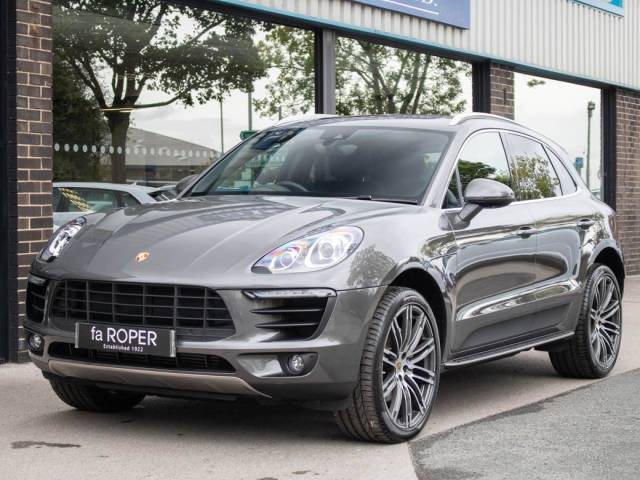 Porsche Macan 3.0 V6 S Diesel PDK Estate Diesel Agate Grey Metallic at fa Roper Ltd Bradford