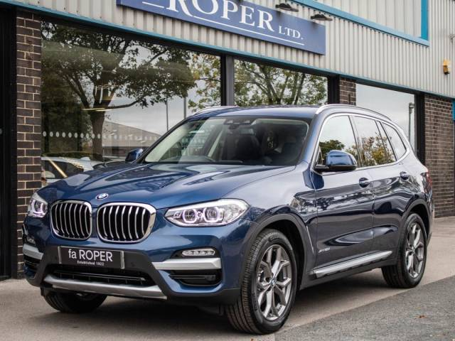 BMW X3 2.0 xDrive20i xLine Auto Estate Petrol Phytonic Blue Metallic at fa Roper Ltd Bradford
