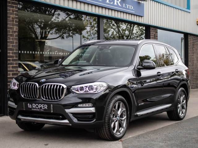 BMW X3 2.0 xDrive20i xLine Auto Estate Petrol Black Sapphire Metallic at fa Roper Ltd Bradford