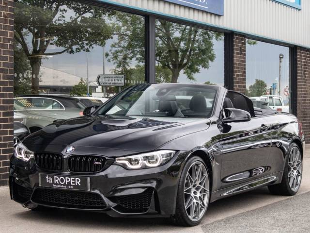 BMW M4 M4 3.0 Convertible DCT [Competition Pack] Convertible Petrol Black Sapphire Metallic at fa Roper Ltd Bradford