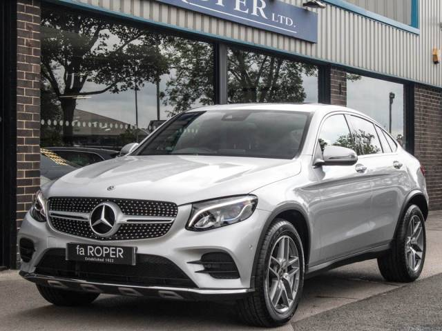 Mercedes-Benz GLC Coupe 2.1 GLC 250d 4Matic AMG Line Premium Plus 9G-Tronic Coupe Diesel Iridium Silver Metallic at fa Roper Ltd Bradford
