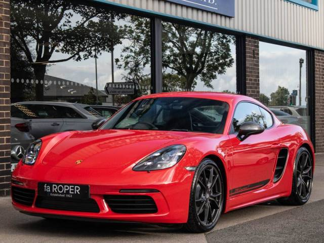 Porsche Cayman 2.0 718 T Manual 6 Speed 300ps Coupe Petrol Guards Red at fa Roper Ltd Bradford