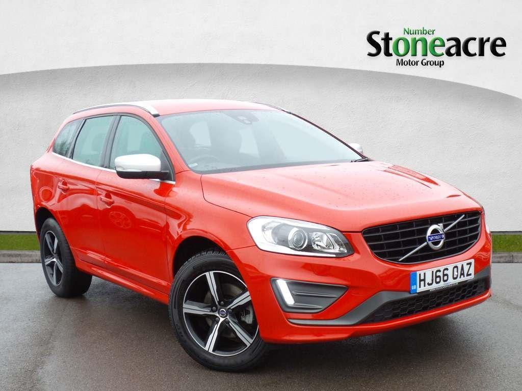 Volvo XC60 2.4 D5 R-Design Lux Nav Geartronic AWD (s/s) 5dr SUV Diesel Red