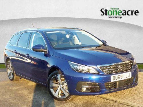 Peugeot 308 1.2 PureTech GPF GT Line Estate 5dr Petrol (s/s) (130 ps) Estate Petrol Blue