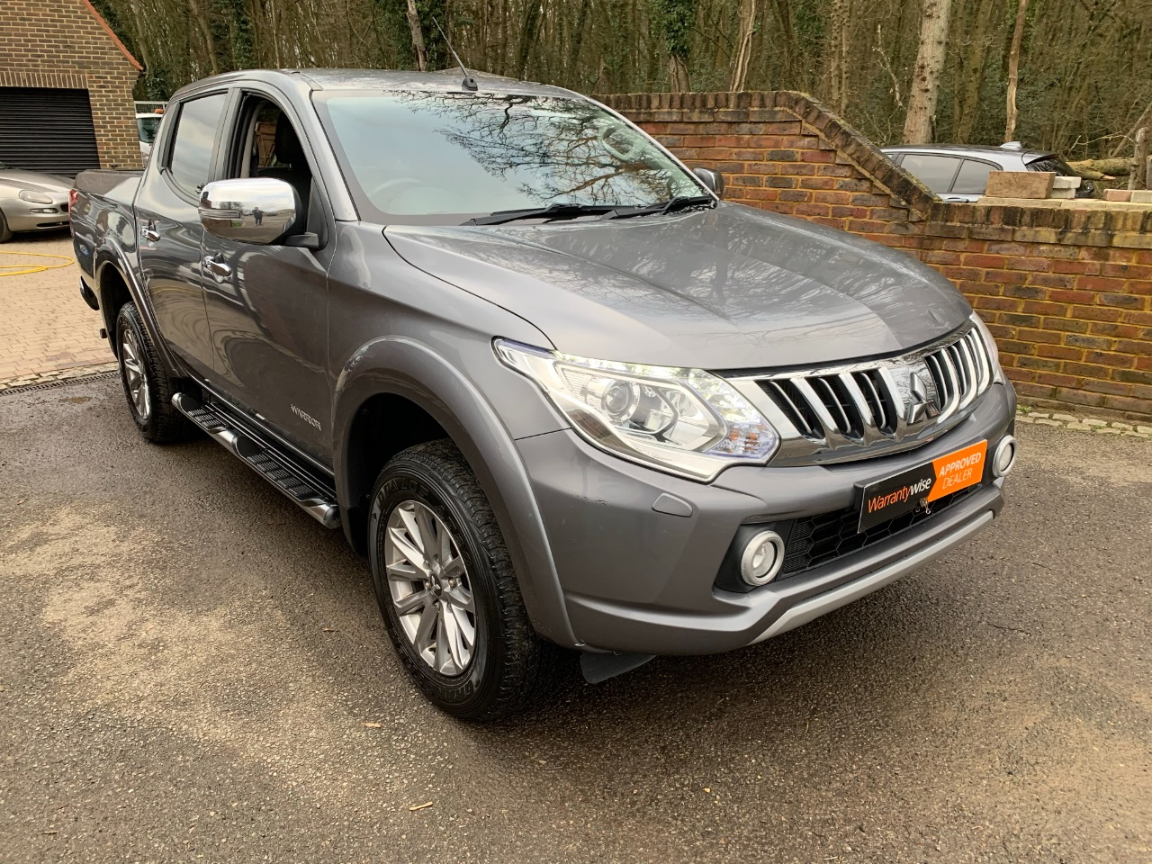 Mitsubishi L200 2.4 Double Cab DI-D 178 Warrior 4WD Auto + NO VAT Pick Up Diesel Grey at A Touch of Class Kingsnorth