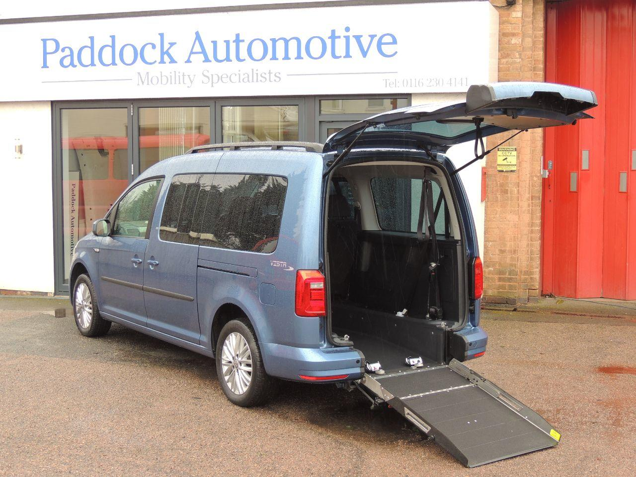 Volkswagen Caddy Maxi Life 2.0 TDI 5dr DSG Wheelchair Adapted Diesel Blue Mica