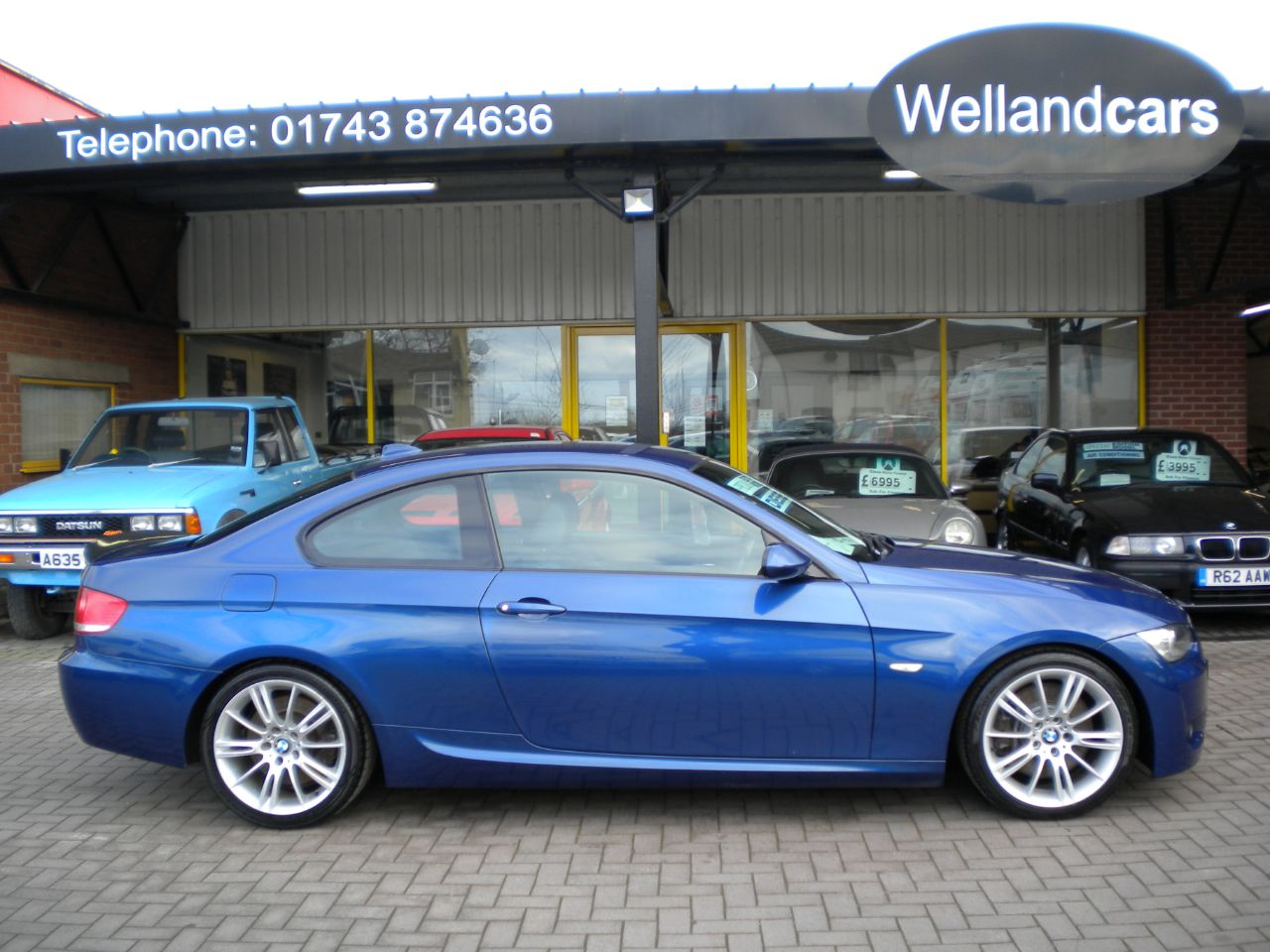 BMW 3 Series 3.0 330d M Sport Coupe 6 Speed Manual Diesel, F/S/H, Full Heated Leather, Memory Pack, Xenons, 1 Owner. Coupe Diesel  Le Mans Blue at Welland Cars Shrewsbury