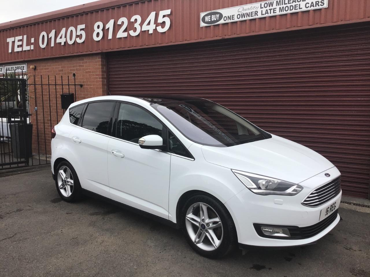 Ford C-MAX 2.0 TDCi Titanium X 5dr Powershift PANORAMIC ROOF / SAT NAV / PRIVATE PLATE INCLUDED MPV Diesel White