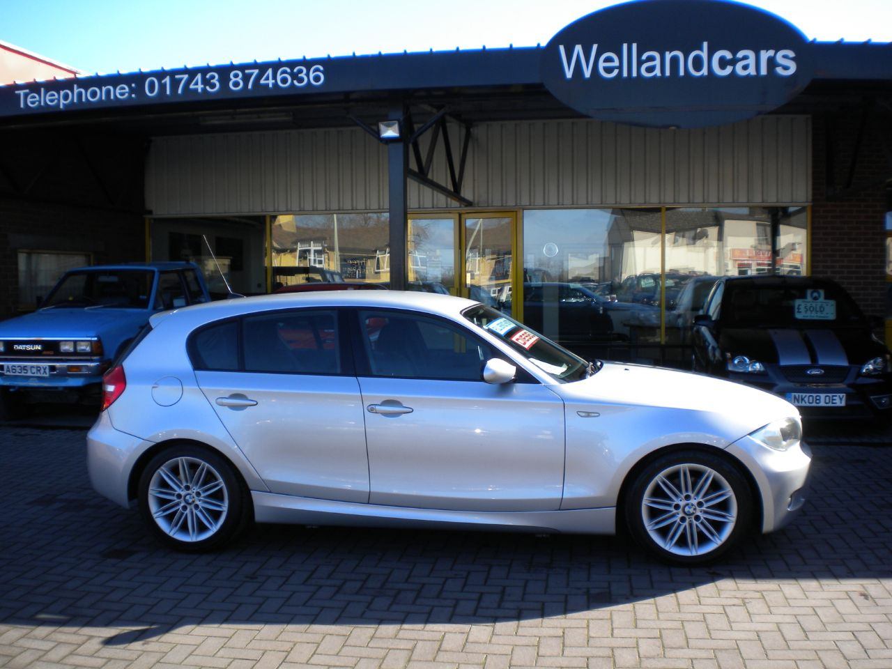 BMW 1 Series 2.0 120d M Sport 5dr 6 Speed Manual Diesel, F/S/H, 2 Owners, 1/2 Leather, 17`Alloys Hatchback Diesel Silver at Welland Cars Shrewsbury