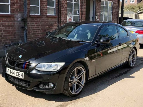 BMW 3 Series 2.0 320I M SPORT Coupe Petrol Black