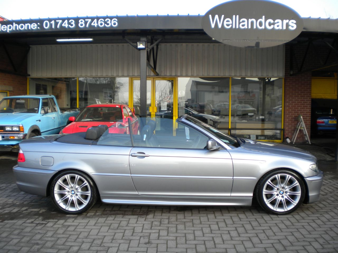 BMW 3 Series 3.0 330 Cd Sport Turbo Diesel 2dr Convertible, F/S/H, 18`Alloys, Full Nappa Leather Convertible Diesel Steel Grey Metallic at Welland Cars Shrewsbury