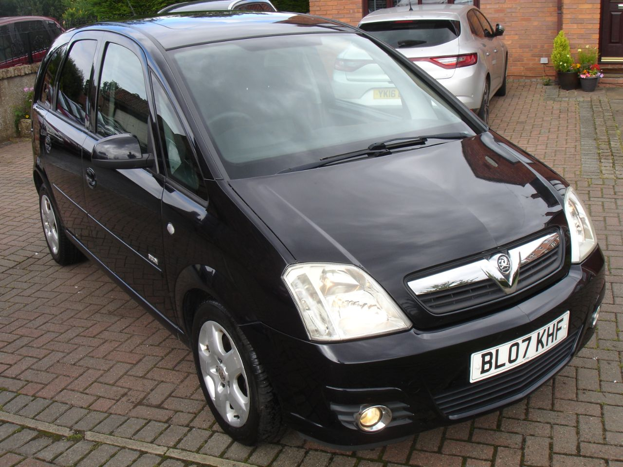 Vauxhall Meriva 1.4i 16V Design MPV 5dr MPV Petrol Black at Level Pitch Selby