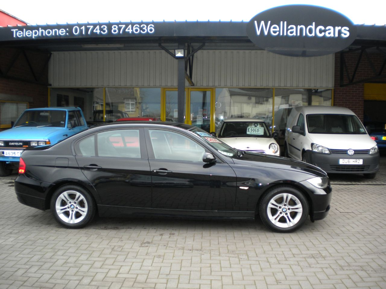 BMW 3 Series 2.0 320d SE [177] 4dr Saloon 6 Speed Manual Turbo Diesel, 1 Owner, F/S/H, Dual Climate Control A/C. Saloon Diesel Metallic Black at Welland Cars Shrewsbury
