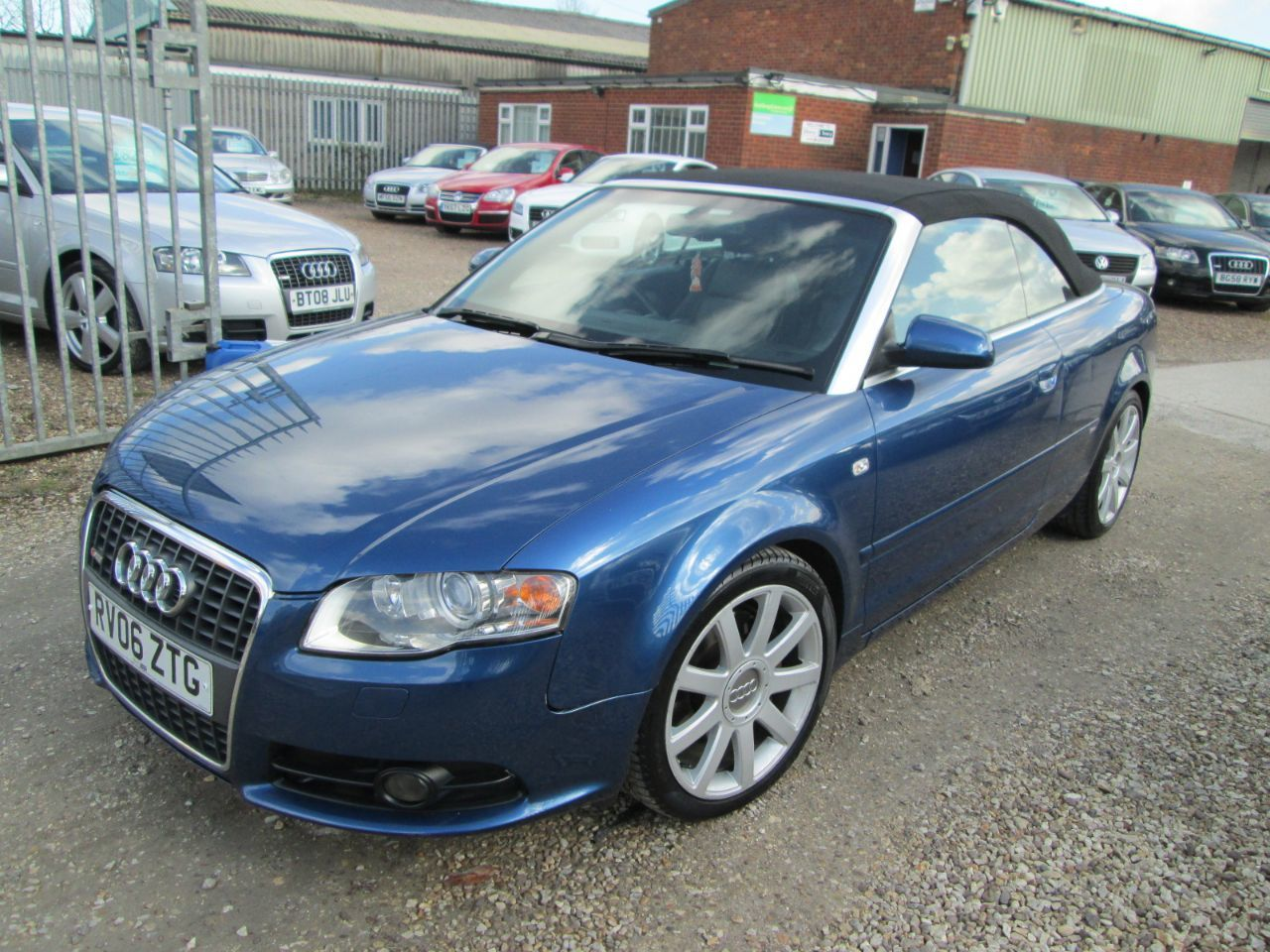 Audi A4 3.0 TDi QUATTRO S LINE TIPTRONIC + FULL BLACK LEATHER + FULL SERVICE HISTORY Convertible Diesel Blue
