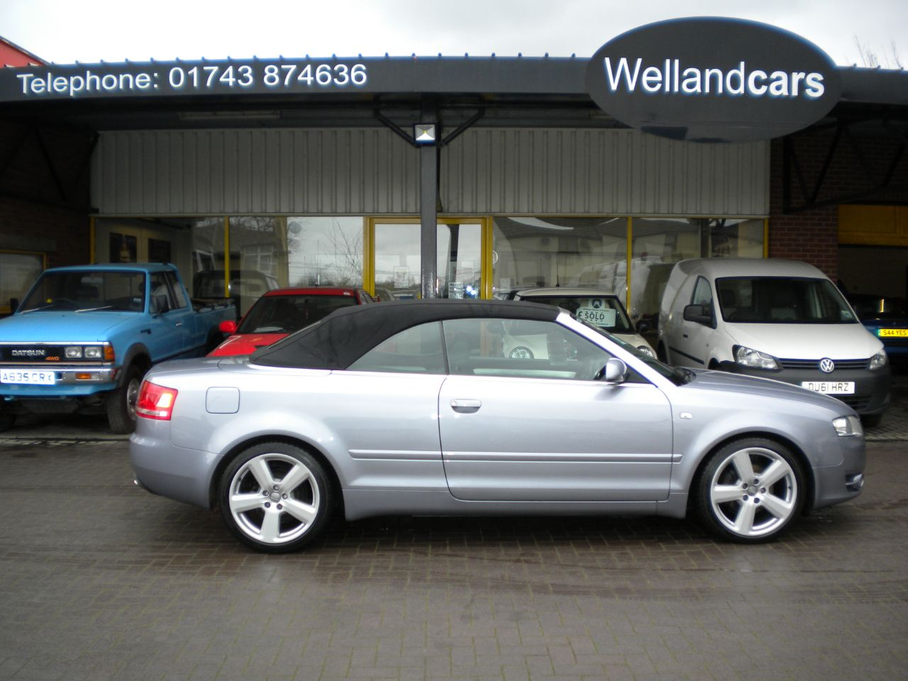Audi A4 2.0 TDi S Line 2dr 6 Speed Manual, F/S/H, 1 Owner, Full Heated Leather, Bose, Navigation, Bluetooth Convertible Diesel Silver Grey Metallic at Welland Cars Shrewsbury