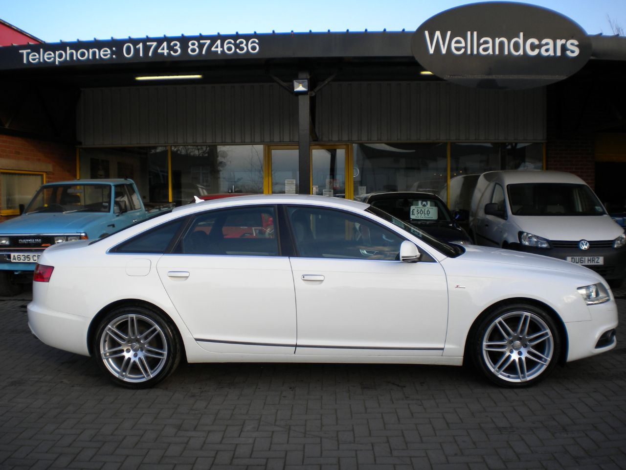 Audi A6 2.0 TDI 170 Le Mans 4dr 6 Speed Manual, F/S/H,1 Owner,Full Leather,Colour Navigation,18` Alloys Saloon Diesel White at Welland Cars Shrewsbury