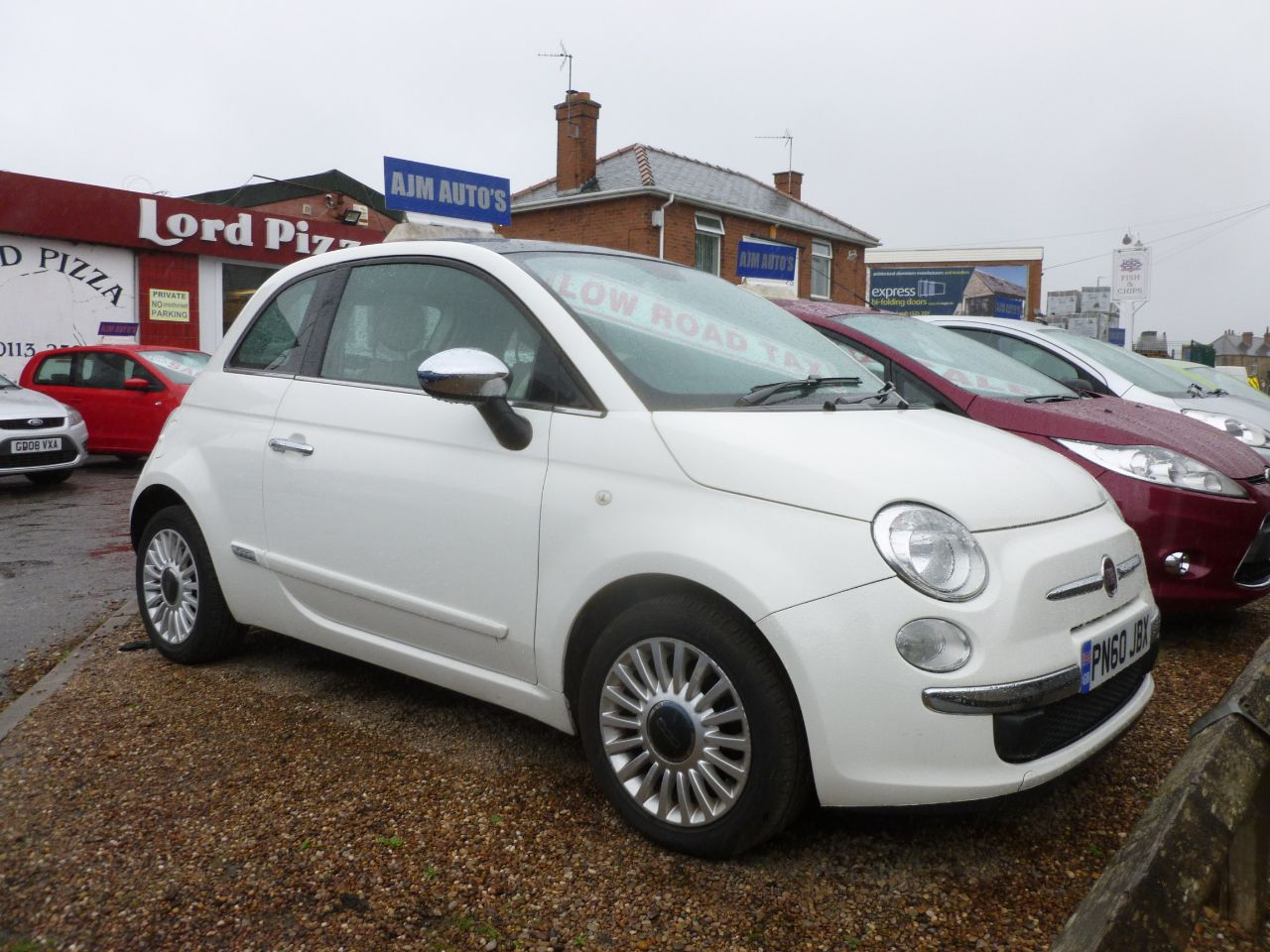 Fiat 500 1.2 Lounge 3dr [Start Stop] Hatchback Petrol White at AJM Autos Leeds Leeds