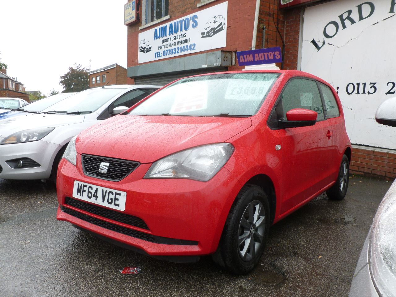 SEAT Mii 1.0 I TECH 3dr Hatchback Petrol Red