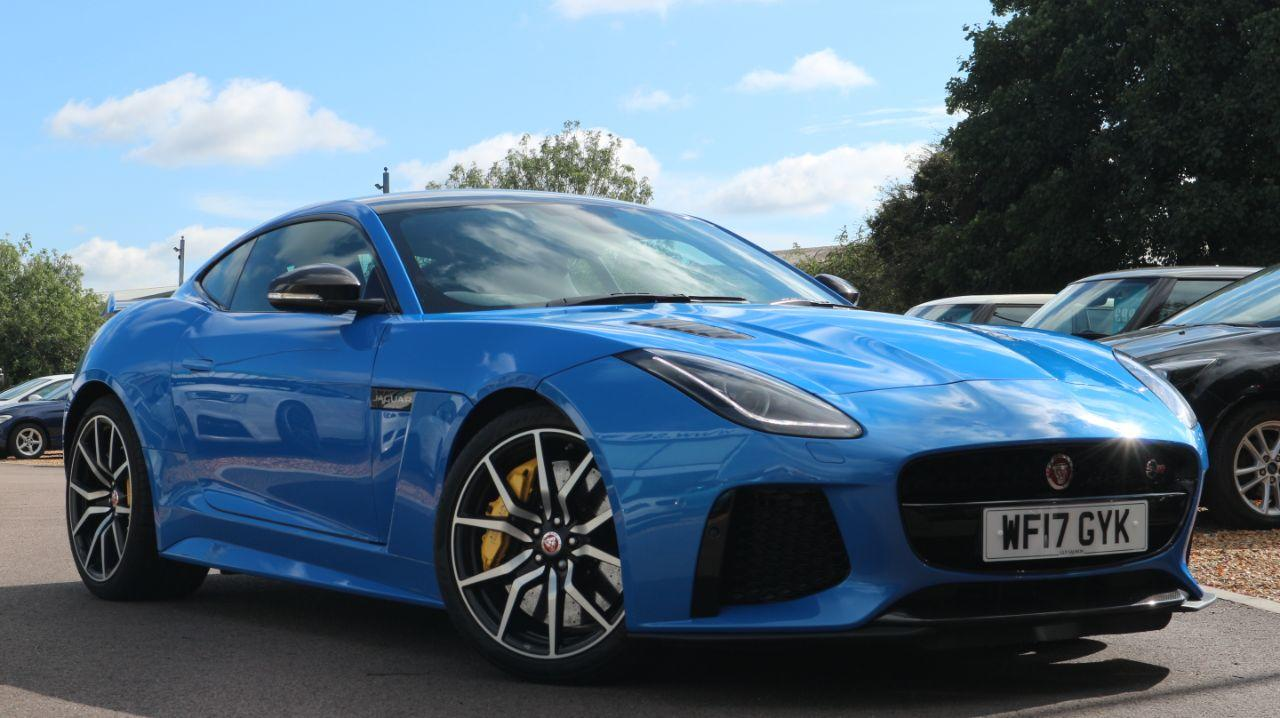 Jaguar F-type 5.0 Supercharged V8 SVR 2dr Auto AWD Coupe Petrol Blue