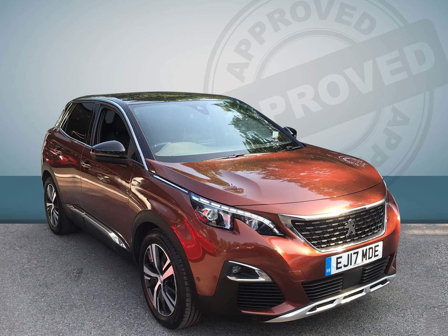 Peugeot 3008 Suv 1.2 Prtch 130 Gt Line S/s 130 Hatchback Petrol Orange