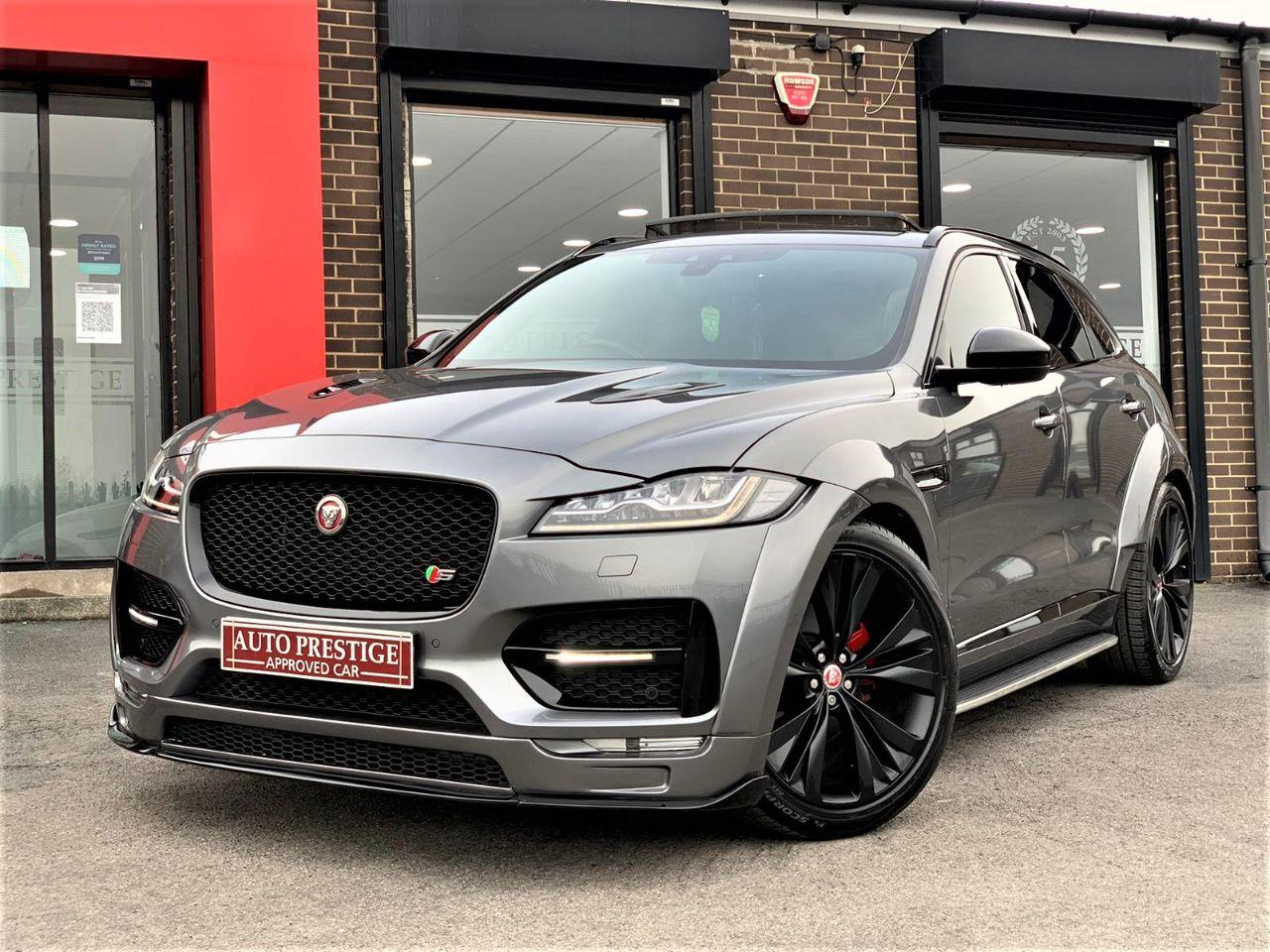 Jaguar F-pace 3.0d V6 S 5dr Auto AWD GTS UPGRADES PANROOF REAR ENTERTAINMENT Estate Diesel Grey