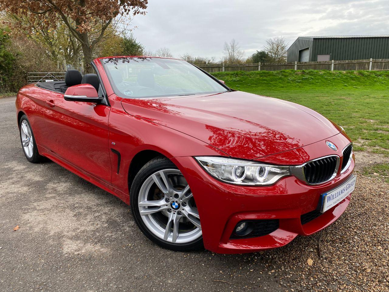 BMW 4 Series 2.0 430i M Sport 2dr Auto [Professional Media] (Low Miles! Heated Seats! +++) Convertible Petrol Melbourne Red Metallic