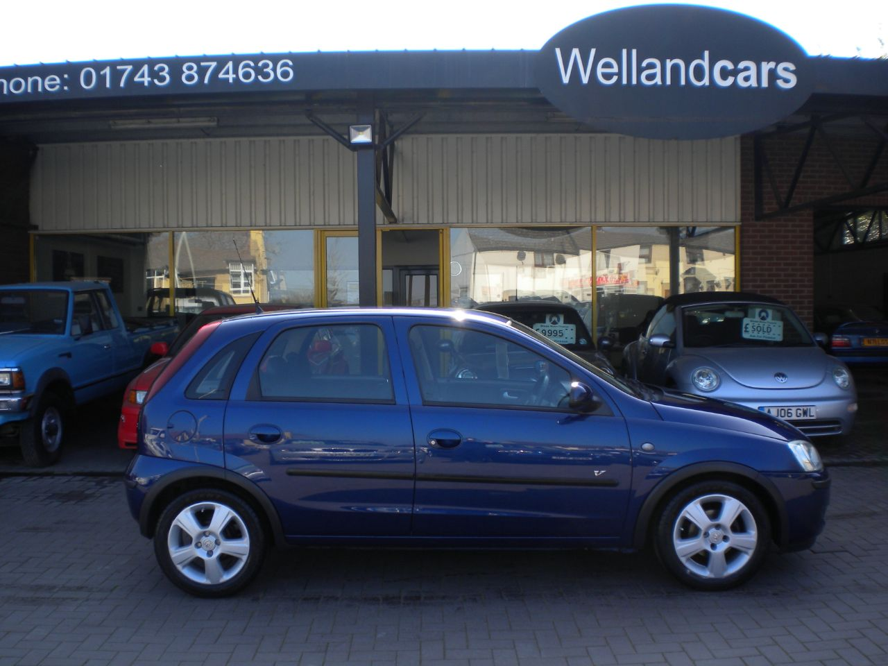 Vauxhall Corsa 1.2i 16V Energy 5dr Air-Conditioning, Alloys, Electric Windows, Only 2 Owners Hatchback Petrol Metallic Royal Blue at Welland Cars Shrewsbury