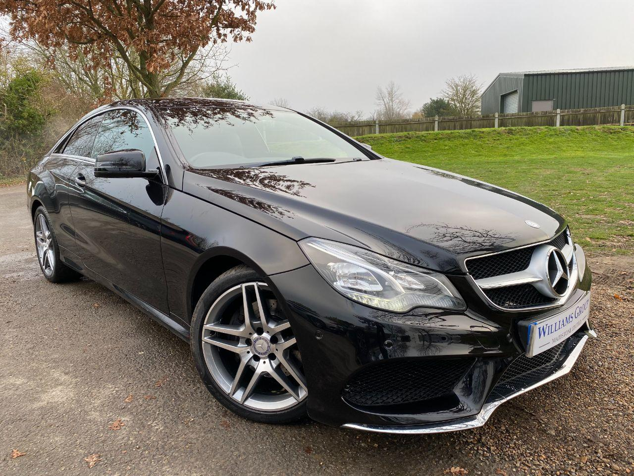 Mercedes-Benz E Class 2.1 E220 CDI AMG Sport 2dr 7G-Tronic (Full Service History! Nav! ++) Coupe Diesel Obsidian Black Metallic