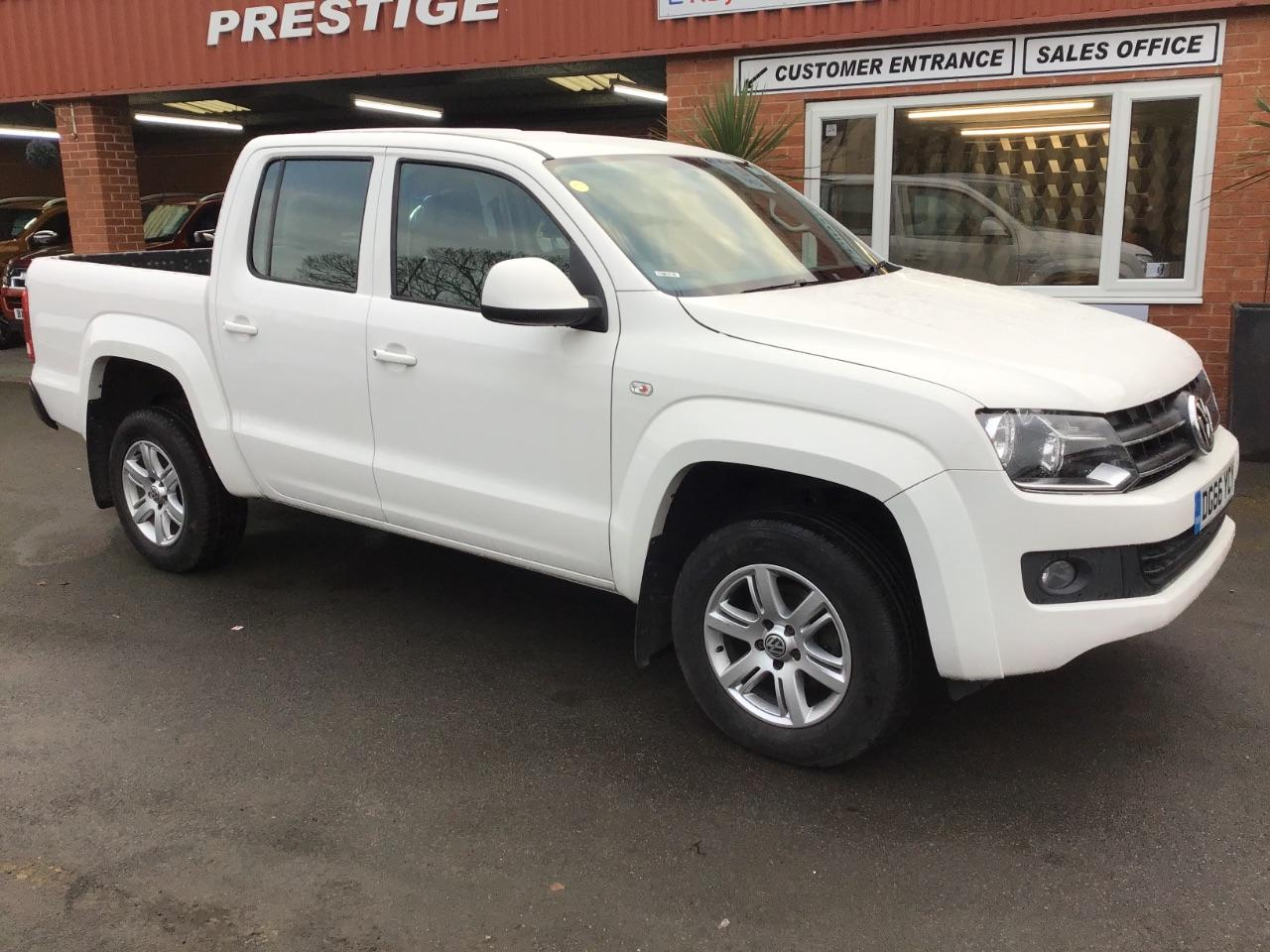 Volkswagen Amarok D/Cab Pick Up Trendline 2.0 BiTDI 180 4MOTION Sel  PLUS VAT Pick Up Diesel White