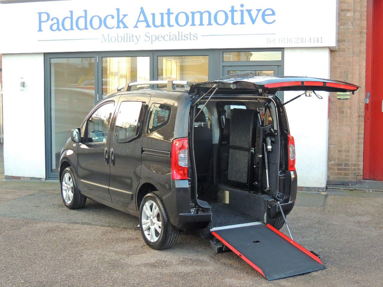 Fiat Qubo 1.3 Multijet Dynamic Dualogic Drive From and Ride Up Wheelchair Accessible Vehicle WAV Wheelchair Adapted Diesel Black Mica