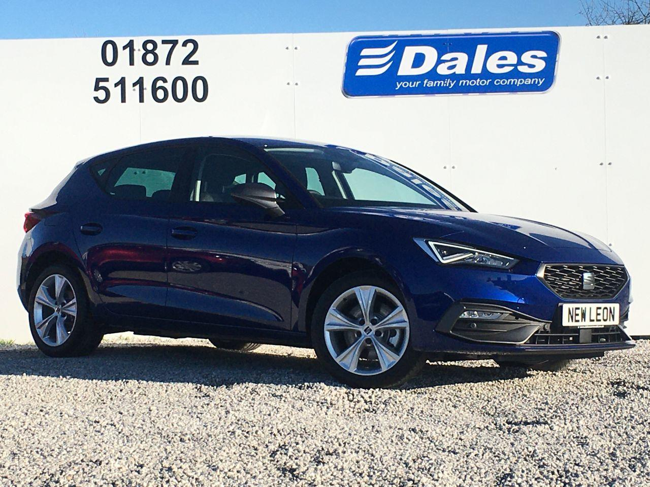 SEAT Leon FR PHEV 1.4 e-HYBRID DSG AUTO 204PS 6-SPEED Hatchback Petrol / Electric Hybrid Mystery Blue