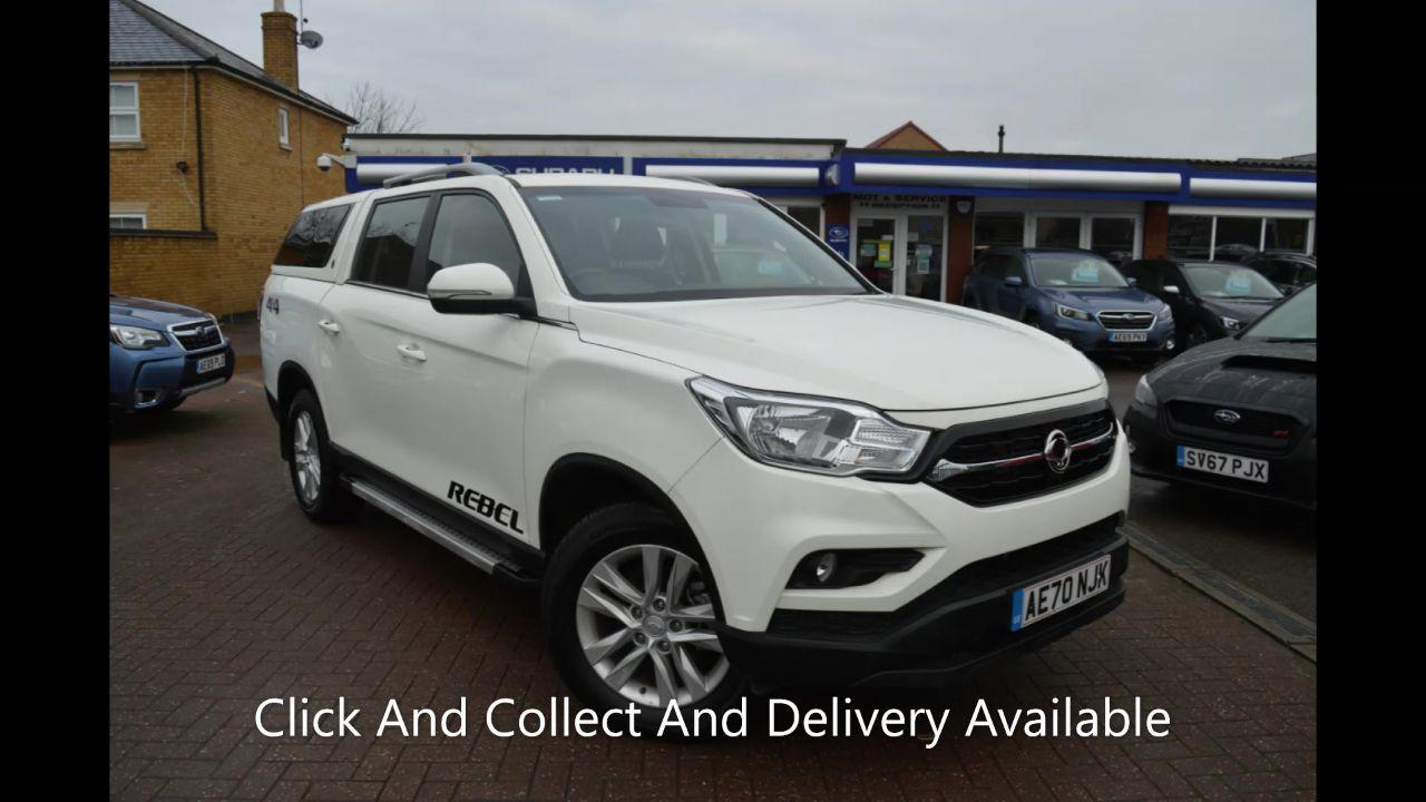 SsangYong Musso 2.2 Double Cab Pick Up Rebel 4dr AWD Pick Up Diesel WHITE