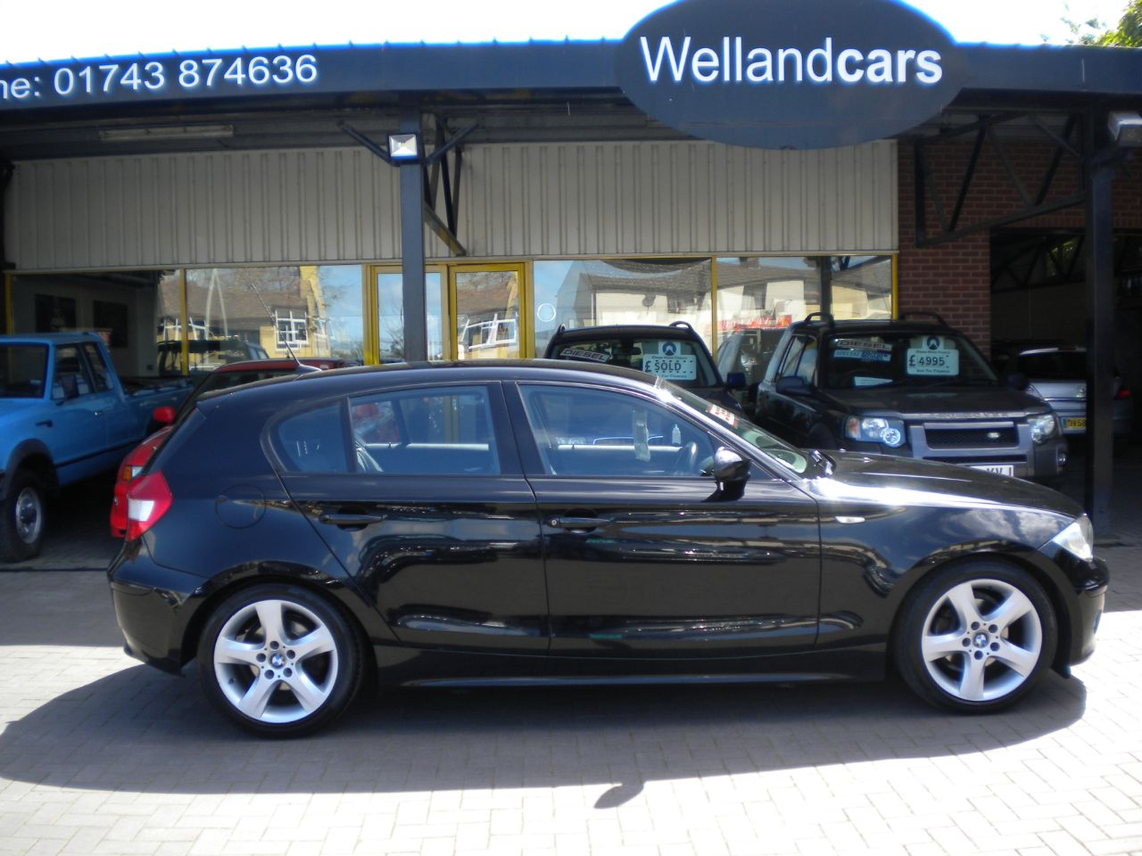 BMW 1 Series 2.0 118d Sport 5dr Turbo Diesel 6 Speed Manual,F/BMW/SH,2 Owners,17`Alloys,Climate A/C Hatchback Diesel Black at Welland Cars Shrewsbury