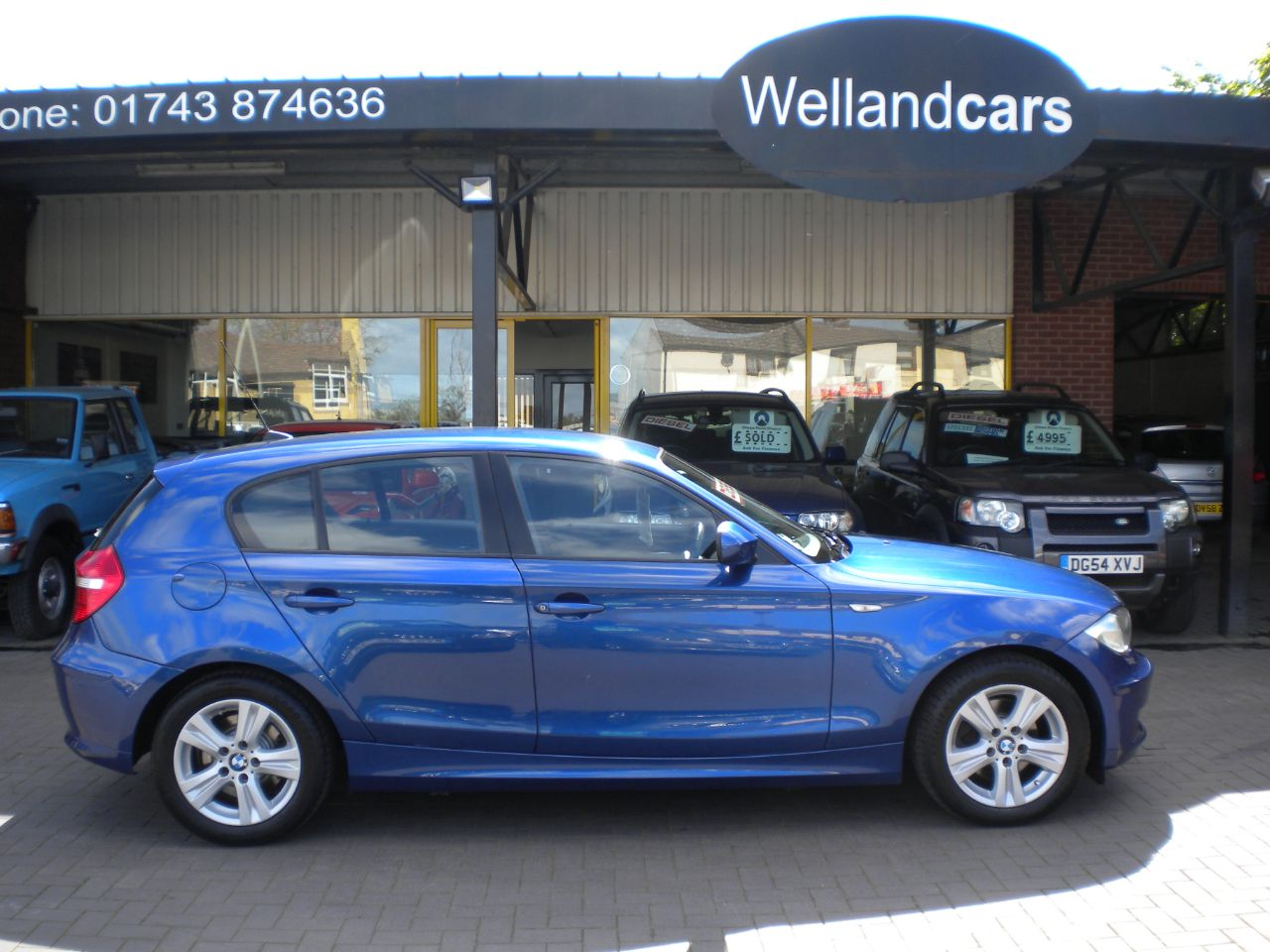 BMW 1 Series 118d SE 5dr 2.0 Turbo Diesel 6 Speed Manual, F/S/H, 2 Owners, Parrot Kit, Climate A/C Hatchback Diesel Blue at Welland Cars Shrewsbury