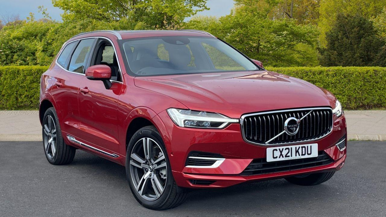 Volvo XC60 2.0 T6 Recharge PHEV Inscription AWD Estate Hybrid Red