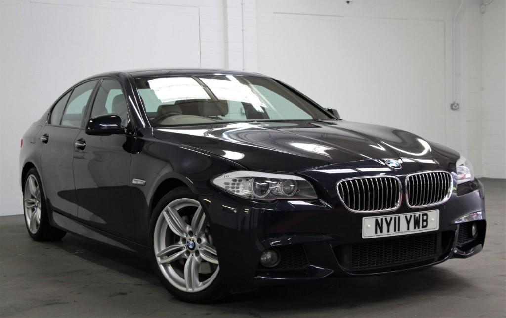 BMW 5 Series 3.0 M Sport [245] (CLICK N COLLECT OR BUY FROM HOME !!) Saloon Diesel Imperial Blue