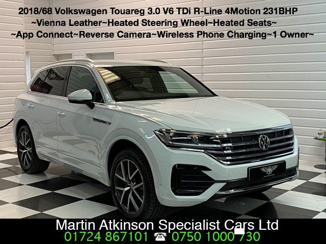 Volkswagen Touareg 3.0 V6 TDi R-Line 4Motion 231BHP Automatic Estate Diesel Candy White