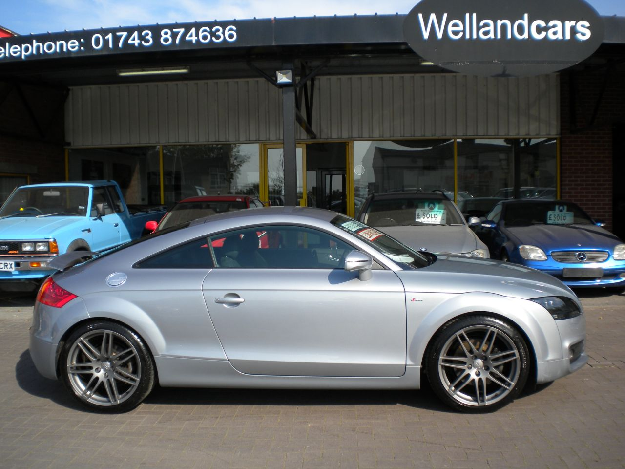 Audi TT 2.0T FSi S Line Special Edition 2dr 6 Speed, Low Miles, F/S/H,1 Owner,Leather,B/Tooth,19`Alloys Coupe Petrol Metallic Monza Silver at Welland Cars Shrewsbury