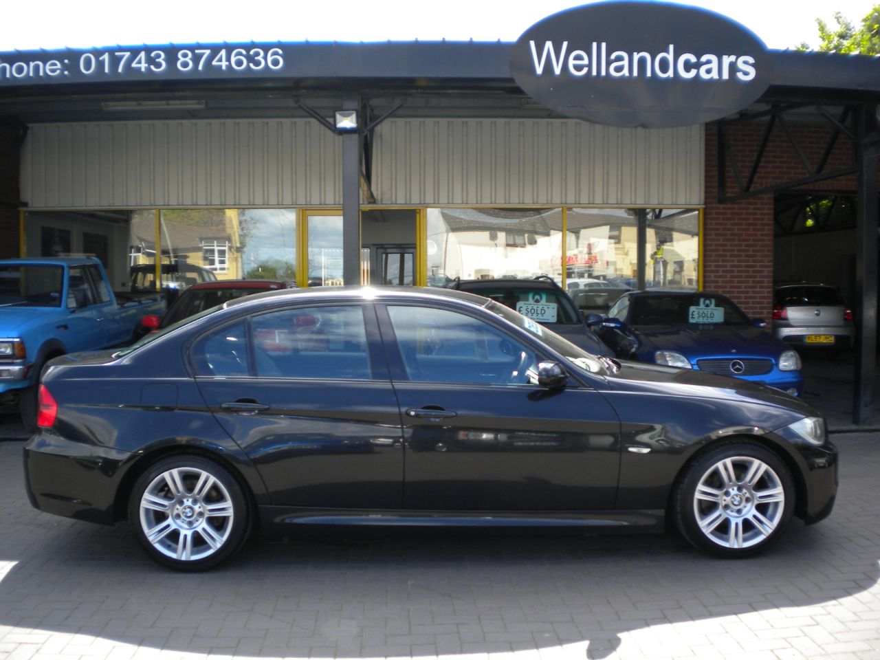 BMW 3 Series 2.0 320d M Sport 4dr  6 Speed Manual, F/S/H,1 Owner, Full Leather, Cruise Saloon Diesel Black at Welland Cars Shrewsbury